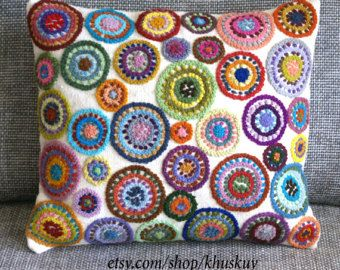 RESERVED FOR GLENDA Pillow cover embroidered by khuskuy on Etsy