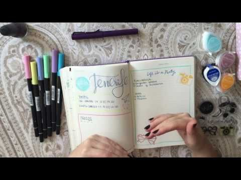 In Spanish, but she has some beautiful spreads! Bullet Journal: Colecciones - YouTube