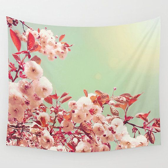 This lightweight tapestry wall hanging featuring my original fine art photography is available in four sizes: S - 24 x 36 M - 51 x 60 L - 68 x 80 XL - 88 x 104  Tapestries are made of lightweight polyester and are hand sewn with finished edges. The small tapestry has metal hanging grommets in the corners. They are suitable for both indoor and outdoor use. Tapestries are machine washable on a gentle cycle with cold water.  ---------------------------------------------  PLEASE NOTE:  * Because…