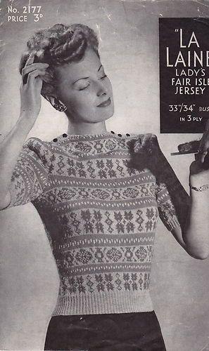79 best Fairisle images on Pinterest | Knitting patterns, Fair ...