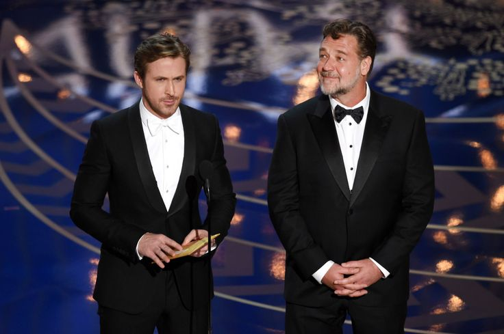 """Russell Crowe and Ryan Gosling Go to Couples Therapy, Address Those """"Hey Girl"""" Memes  - MarieClaire.com"""