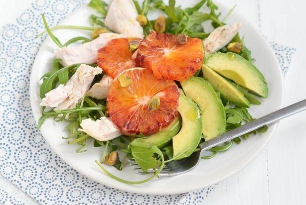 Salade met bloedsinaasappel
