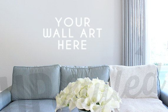 Styled Photograph Living Room Wall Art With 16x20 Frame