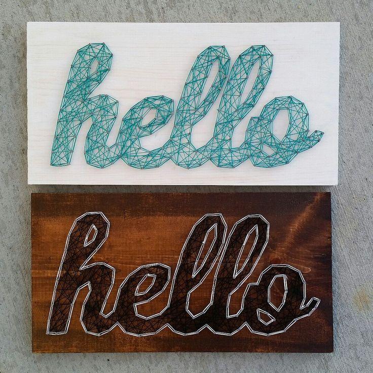 Custom string art hello sign by Blossomingburlap
