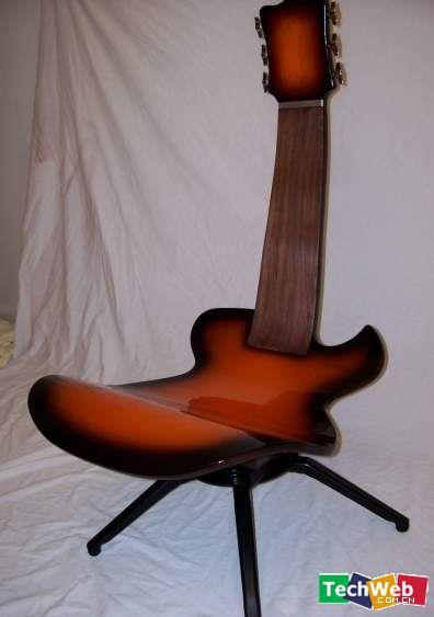 musicians chair.  #chair #guitar Do you like interesting design? Go to: http://designersko.pl
