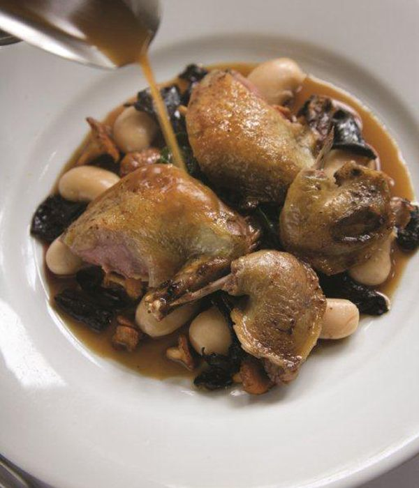 Used as a bed for squab in this roast pigeon recipe, the butter beans will need to be soaked overnight. When in season, this dish from Bryan Webb looks great garnished with some skinned broad beans, or accompanied with some wild rice.