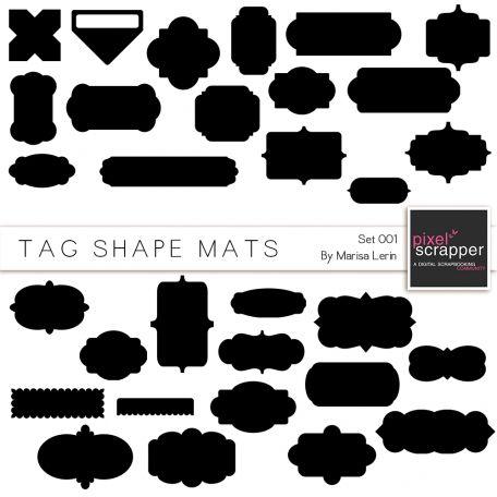 Tag Shape Mat Set 1 Kit By Marisa Lerin Pixel Scrapper