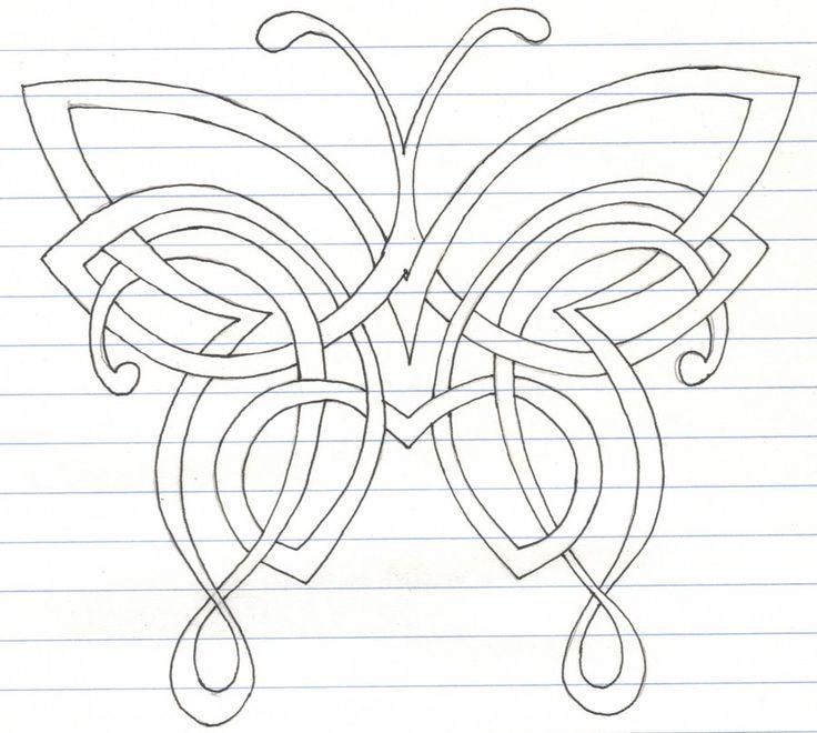 Celtic Butterfly by darkartmind.deviantart.com on @deviantART
