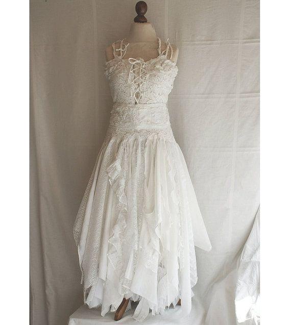 Upcycled Wedding Dress Fairy Tattered