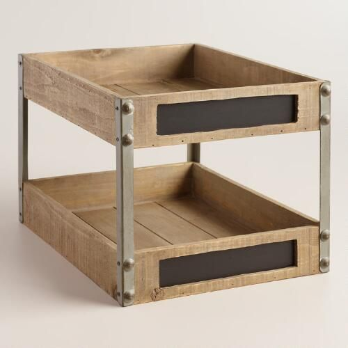 One of my favorite discoveries at WorldMarket.com: Wood and Metal Sebastian 2-Level Tray