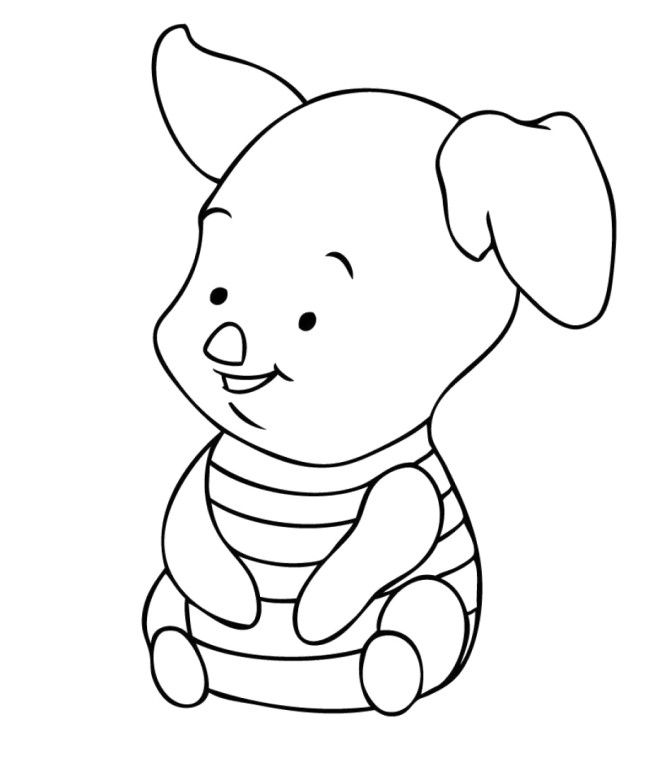 Cute Baby Disney Characters Coloring Pictures Adorable
