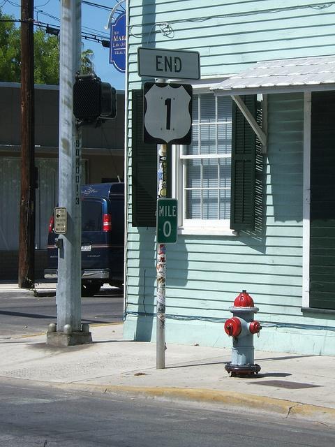 Mile Marker Zero in Key West, Florida