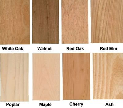 different types of hardwood 1