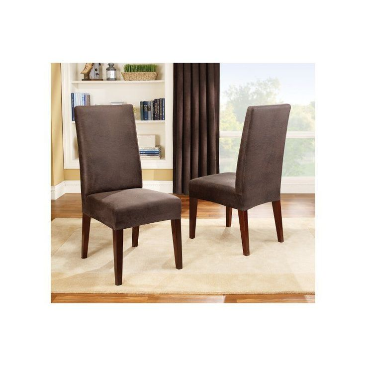 Sure Fit Stretch Leather Dining Room Chair Cover - 37382