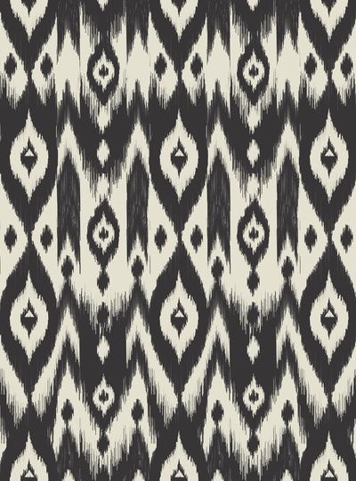 Black & Cream Tribal Ikat Art Print - Bohemian Gypsy Jane