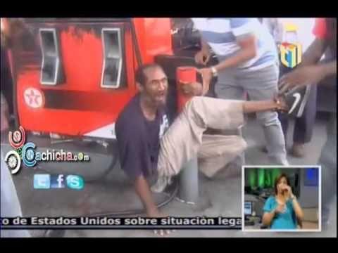 Le entran a tubazo a un ladron por robarse un perro pitbull #Video - Cachicha.com