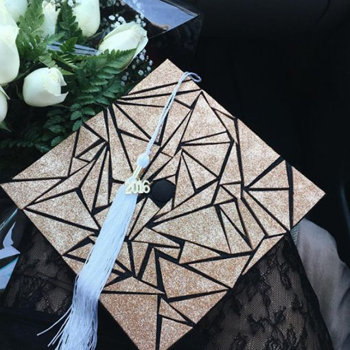 glitter graduation cap decoration ideas