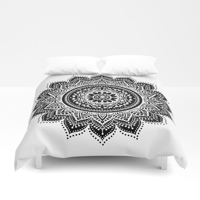 Buy black white mandala Duvet Cover by haroulita. Worldwide shipping available at Society6.com. Just one of millions of high quality products available.