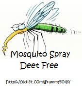 Mosquito Spray-Deet FREE made with essential oils. Click on BLOG to get the recipe