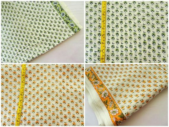 Small floral Fabric Indian cotton fabric lightweight