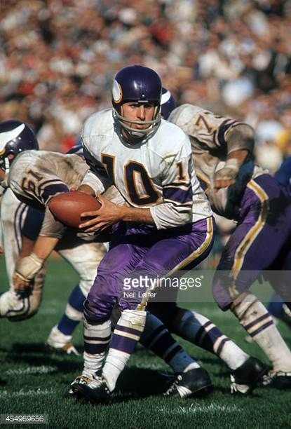 Minnesota Vikings QB Fran Tarkenton in action vs Baltimore Colts at Metropolitan Stadium Bloomington MN CREDIT Neil Leifer