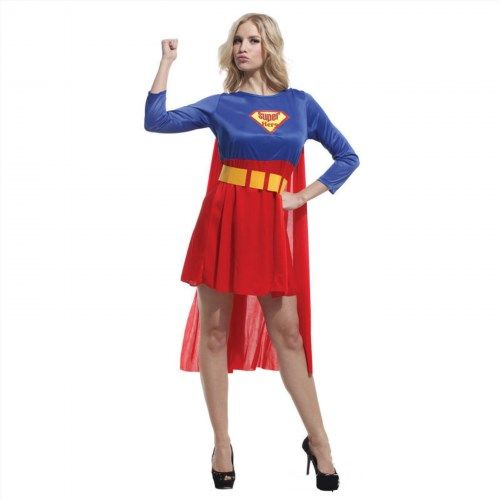 12.50$  Buy here - http://vibps.justgood.pw/vig/item.php?t=7xeiejv50522 - Girl Superwoman Super Woman Fancy Party Costume Halloween Christmas Party with c 12.50$