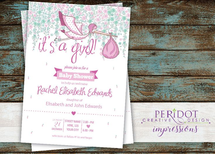Stork Baby Shower Invitations ~ Best images about baby shower invitations shops