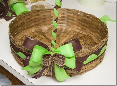 Decore e transforme uma cesta de vime rapidamente