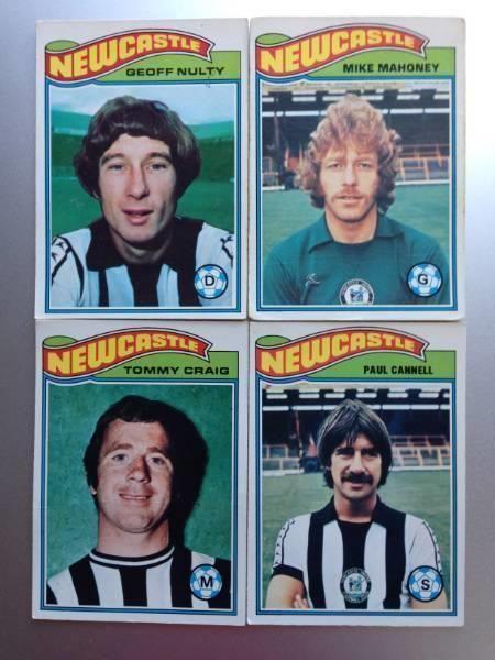 Fotball kort fra 70-tallet (Newcastle)