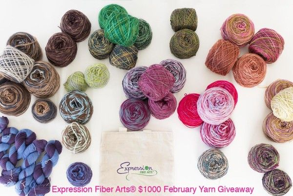 February Yarn Giveaway! Woop woop!  This month's giveaway is valued at $1000+.  Oh. My. Gawd. Wouldn't you love this to show up at your doorstep for free?  1. Worldwide entries welcome. 2. Ends February 28th, 2015. 3. Winner will be notified via email.