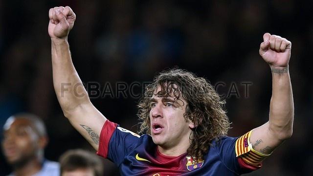 Carles Puyol, FC Barcelona. | FC Barcelona 5-1 Osasuna. 2013-01-27.