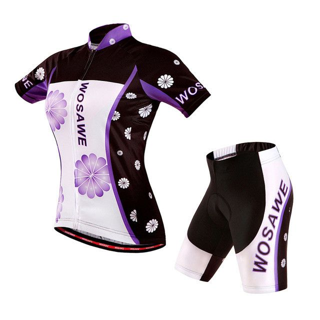 WOSAWE New Sports Cycling Jersey Sets Bike Ciclismo Bicycle Bicicleta Maillot Mtb Clothing Racing Womens Clothes