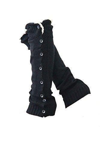 Oferta: 6.24€. Comprar Ofertas de Guarnecido de encaje de 8 botones Botas Calcetines largos de ganchillo Mujeres chicas,Color Negro barato. ¡Mira las ofertas!