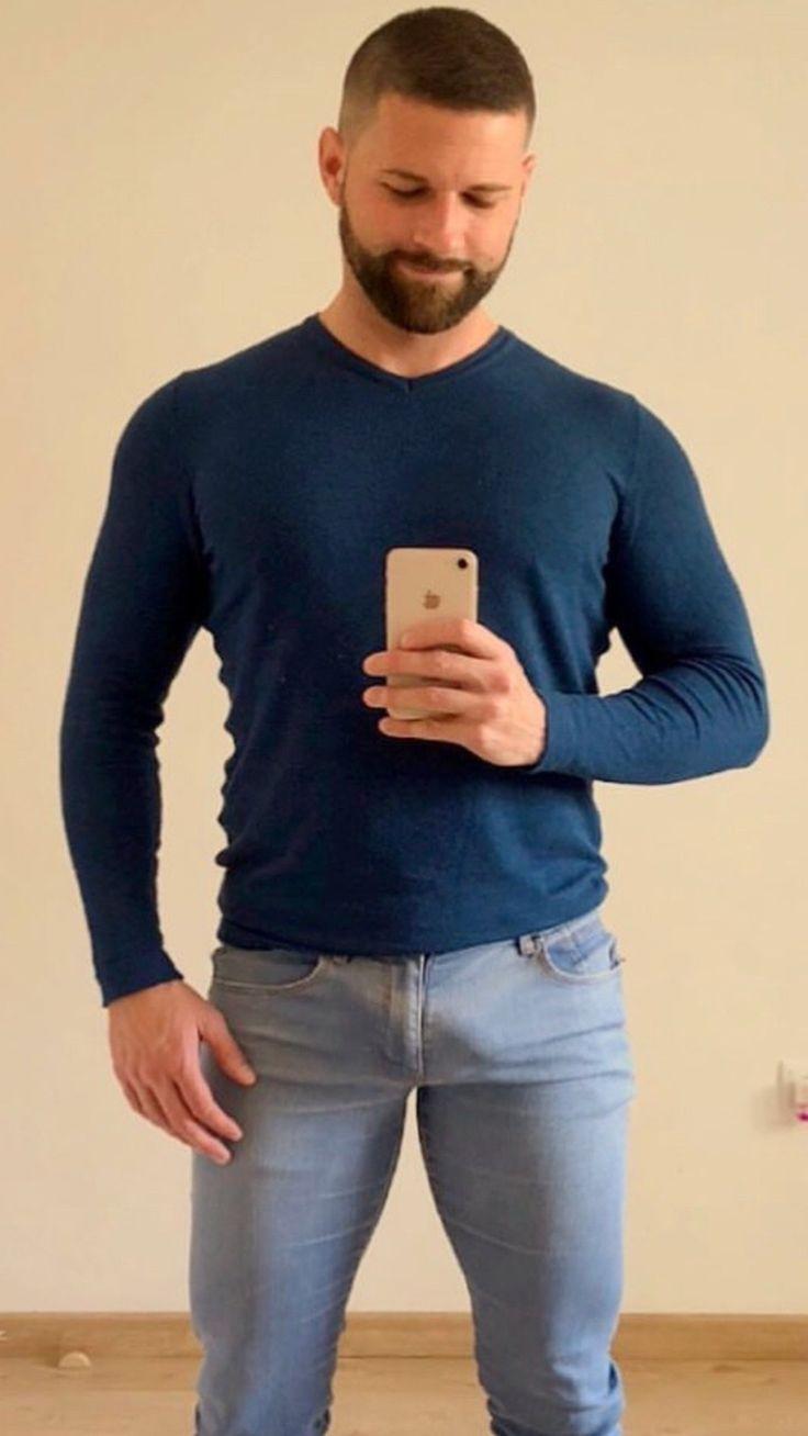 Mens Shredded Jeans
