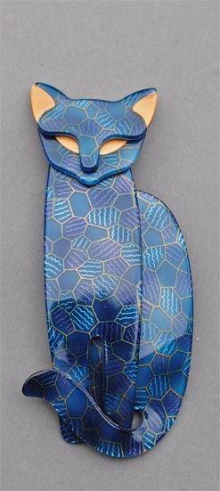 One of Lea Stein's cats (executado com placa de argila)