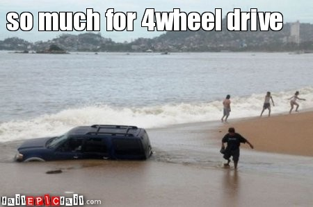 so much for 4wheel drive