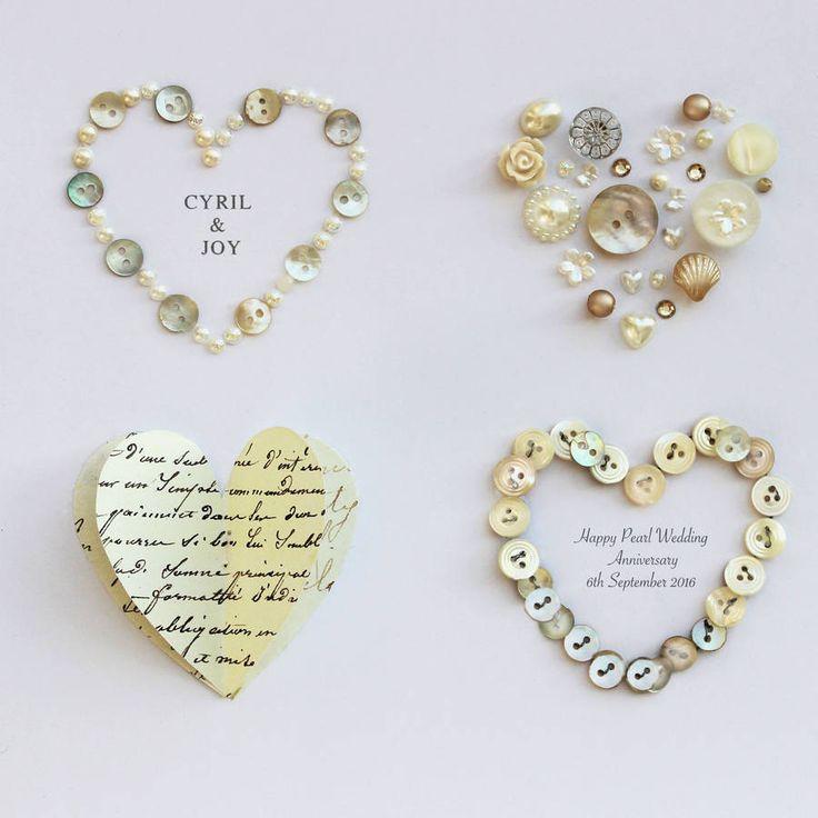 Personalised Pearl Anniversary Artwork