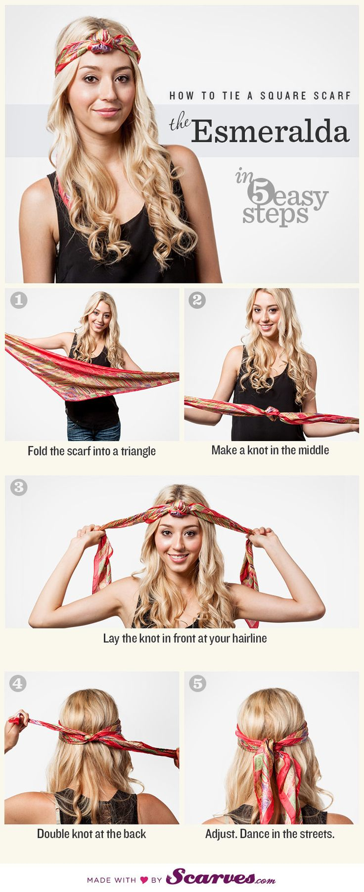 How to Tie a Square Scarf: the Esmeralda