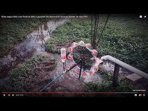 Roda dagua feita com materiais reciclados e tubo PVC - parte 01 - YouTube