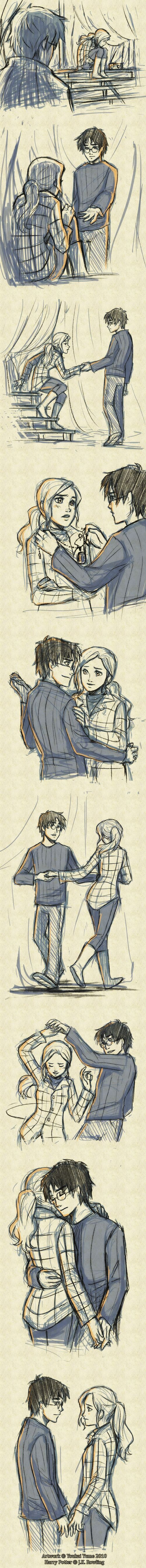 I think this is a really sweet scene between Harry and Hermione. They have such a great brother/sister-like relationship.