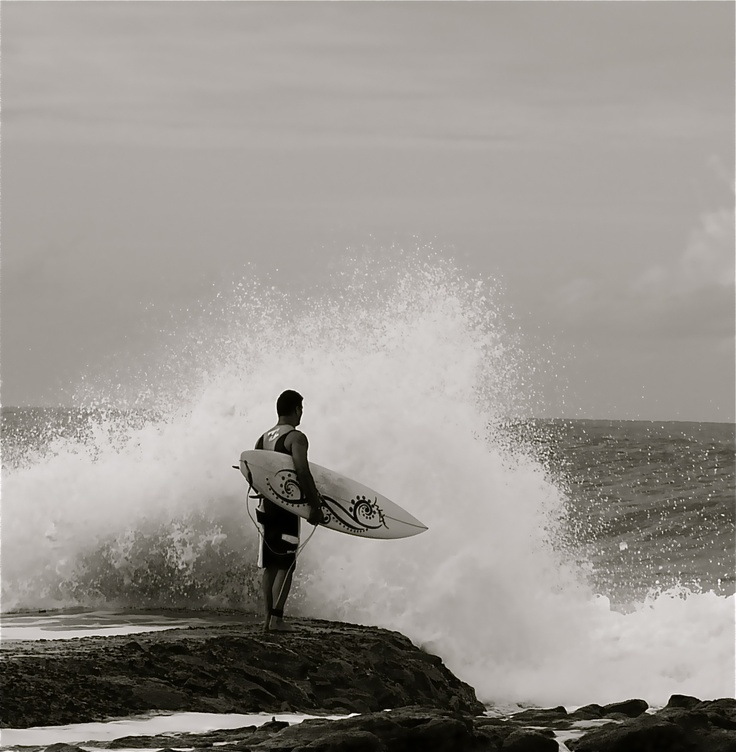 Surfing, Hibiscus Coast, South Africa