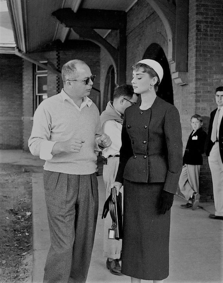 gatabella: Audrey Hepburn and Billy Wilder on the set of Sabrina 1954