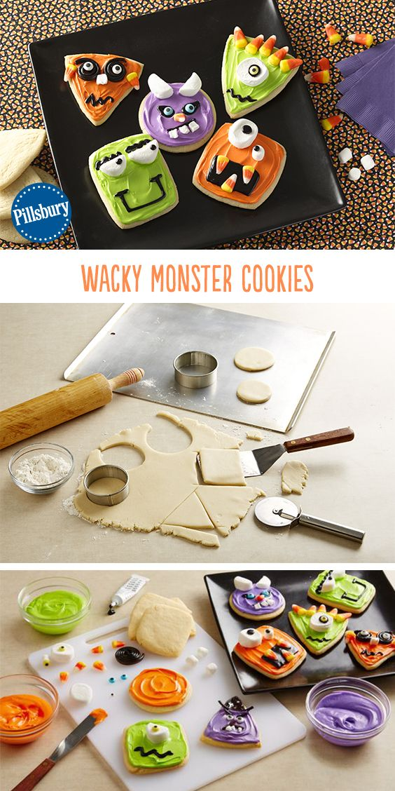 Bring these silly cookies to your next Halloween get-together! Kids can join in on the fun of decorating too for a fun Halloween activity for the whole family!