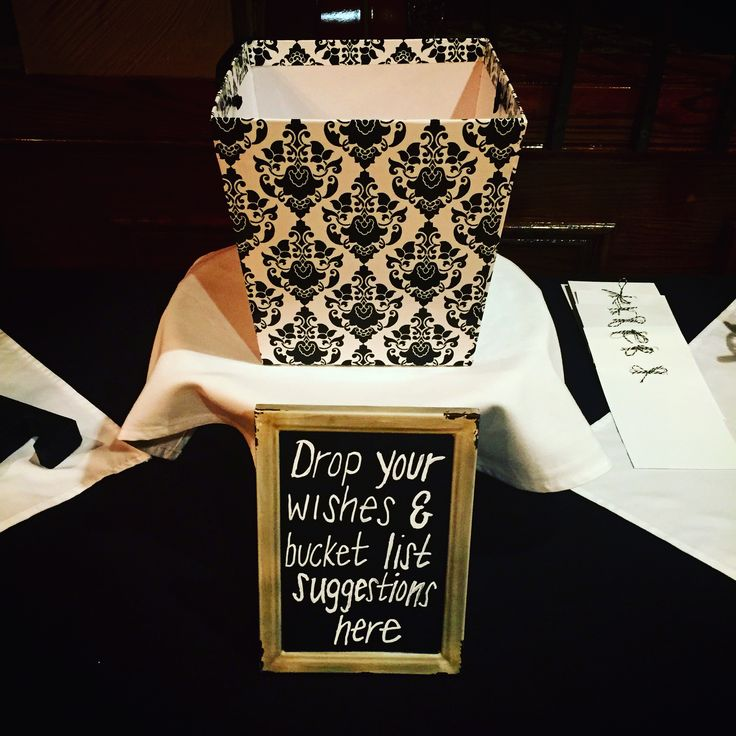 Retirement Party Bucket List Wishes Basket Olivias Banquet Facility