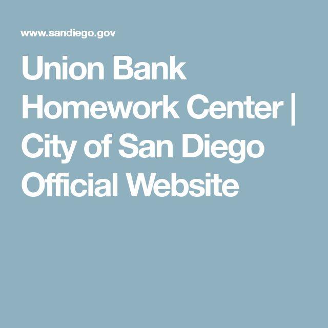 Union Bank Homework Center | City of San Diego Official Website