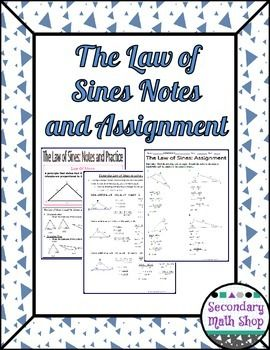 Right Triangles - The Law of Sines Notes and PracticeThe Law of Sines is used to find the missing sides and angles of acute and obtuse triangles in certain situations.  This packet is designed to teach students how to solve problems given those situations.