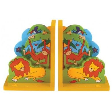 Jungle fans will love this beautiful pair of weighty 3D bookends. While the lions sleep the monkeys and toucans play in the treetops.