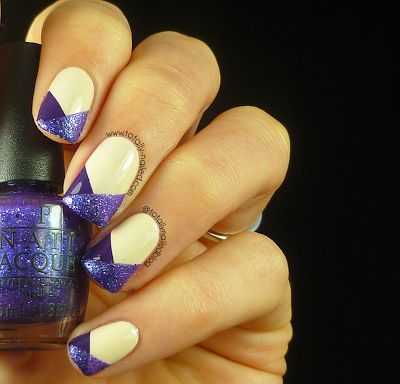 OPI Liquid Sand Nail Art by Totally Nailed on SheSaidBeauty -- easy technique but very pretty and eye-catching!