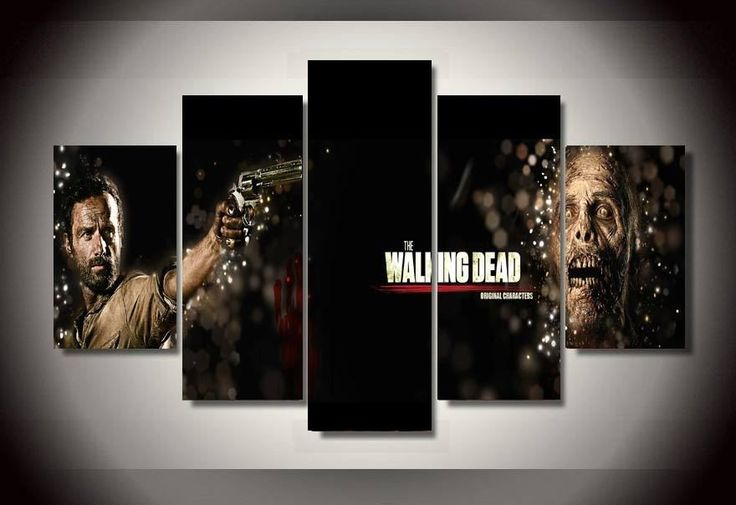 Limited Edition The Walking Dead 5 Piece Canvas Print – TC Discount Store