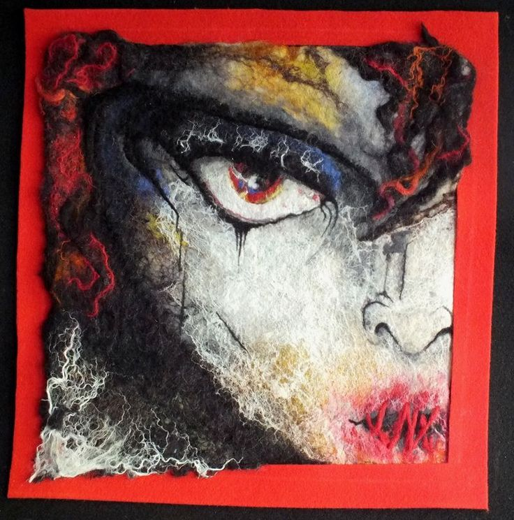 evil silence picture painted wool  feld